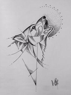 Resultado de imagen para lobo tattoo geometric