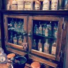 #Antique #Apothecary #Poison #Bottles #Cabinet #AlchemyandAshes