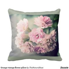 Grunge vintage flower pillow