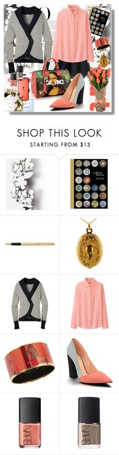 """""""Untitled #91"""" by shewalksinsilence ❤ liked on Polyvore featuring MAC Cosmetics, Élitis, Quarto Publishing, Vanity Fair, Fountain, Mountain Khakis, Uniqlo, Hermès, Louis Vuitton and Shoes of Prey"""