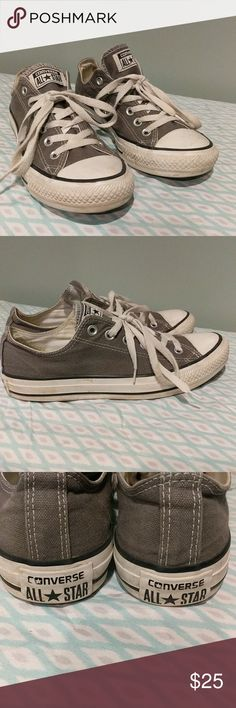 Men's Converse All Star shoes gray size 8 These are in very good used condition, men's size 8. Converse Shoes Sneakers
