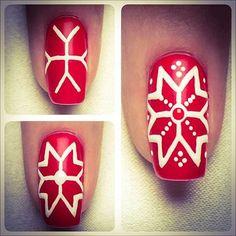 снежинки на ногтях Nail Art Noel, Holiday Nail Art, Xmas Nails, Christmas Nail Designs, Christmas Nail Art, Red Nails, Hair And Nails, Snow Nails, Winter Nails