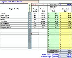 Restaurant Inventory and Menu Costing Workbook: Restaurant Resource Group: Restaurant Accounting, Operations Spreadsheets, Training Manuals, Invento Food Truck Business, Business Tips, Lunch Delivery, Process Flow Chart, Clam Sauce, Food Cost, Food Trucks, Android Apps, Hummus