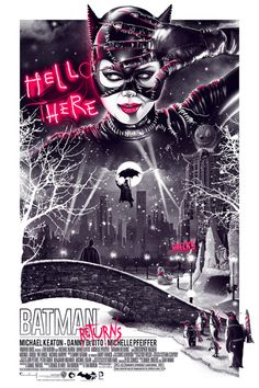 Movie Poster Movement — Batman Returns by Patrick Connan Posters Batman, Batman Film, Im Batman, Batman Art, Batman Batmobile, Best Movie Posters, Cinema Posters, Movie Poster Art, Fan Poster