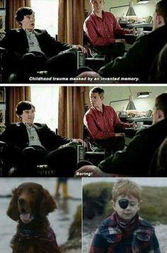 ''We never had a dog Sherlock.''