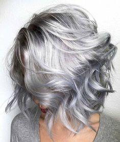 * WOW! ... Silver Lob 🗡🗡🗡 By Michael & Melody @rossmichaelssalon #btcrossmichaelssalon. Using @pravana And treated with #olaplex .…