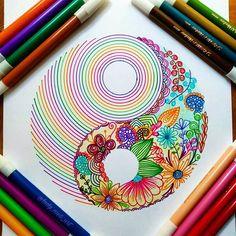 31 Ideas for doodle art ideas draw zentangle patterns Mandala Art, Mandala Drawing, Dibujos Zentangle Art, Zentangle Drawings, Zentangle Patterns, Cool Art Drawings, Pencil Art Drawings, Drawing Ideas, Sharpie Art