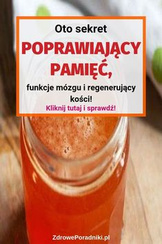Oto sekret poprawiający pamięć, funkcje mózgu i regenerujący kości! Dessert Drinks, Desserts, Nutrition, Healthy Drinks, Health And Beauty, Remedies, Food And Drink, Health Fitness, Healing