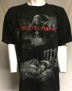 Avenged Sevenfold Nightmare A7X Black XXL Short Sleeve Tee T-Shirt 2XL #AlstyleApparel #GraphicTee