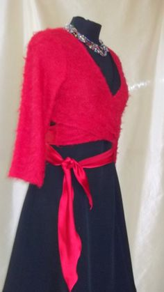 draped red shrugs knitted shrugs draped top with by modafranca, €25.00