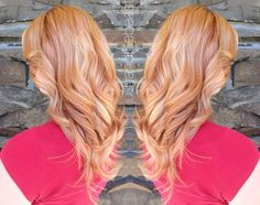 That Strawberry Blonde/Rose Gold!
