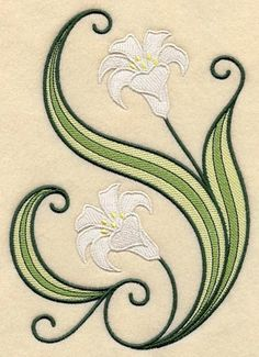 machine embroidery | daffodil machine embroidery design in free standing lace technique. - Google Search