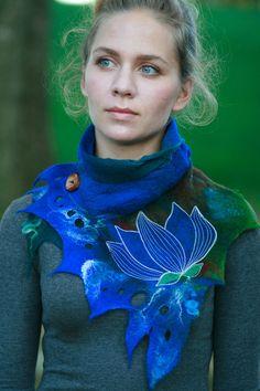 Katia-Mokeyeva Felted Cowl Neck Warmer