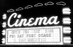 old cinema - lettering