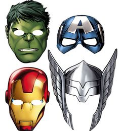 Hulk From Marvel S The Avengers Single Card Party Face Mask