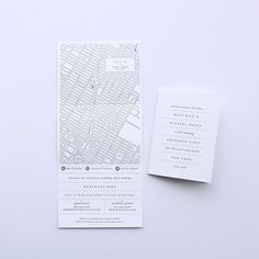 """Brides.com: . """"Manhattan"""" save-the-date card, price available upon request, Sideshow Press"""