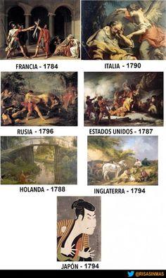 El arte en Japón comparando la misma epoca y en otros países.