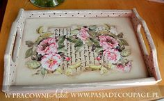 IDEA - decoupage old wallpaper flower cut outs and place over old music or any old paper