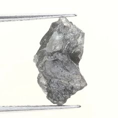 1.42 TCW Silver GRay Color African Irregular Loose Rough Natural Raw Diamond