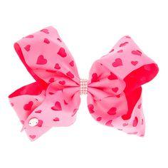 JoJo Siwa Large Heart Rhinestone Keeper Pink Hair Bow | Claire's