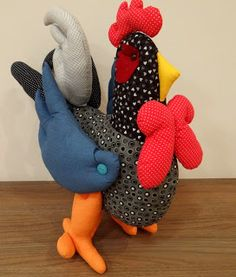 Kunsthandwerk von Sandra Duarte: hahn Stoff