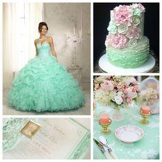 Mint u0026 Pink Quince Theme | Quinceanera Ideas | & A Vintage Quinceanera Theme | Pinterest | Decoration Vintage and ...