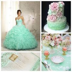 Mint & Pink Quince Theme   Quinceanera Ideas  