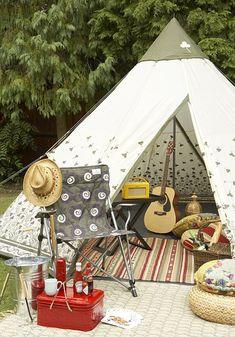 backyard camping.. glamping
