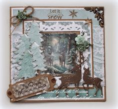 Christmas Cards To Make, Christmas Greeting Cards, Handmade Christmas, Vintage Christmas, Christmas Crafts, Hand Made Greeting Cards, Greeting Cards Handmade, Card Making Inspiration, Making Ideas