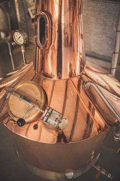 """Our lovely still """"Pandora'  #gin #still #sloe #sloegin #distillery #tasmania"""