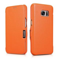 ICARER Genuine Leather Slim Case with Magnetic Closure for Samsung Galaxy S7 G930