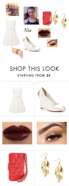 """""""Nia's Christmas Outfit 10"""" by lyric-denali ❤ liked on Polyvore featuring Emilio De La Morena, David Tutera, Lancôme, Charlotte Russe, Red Herring and Bee Charming"""
