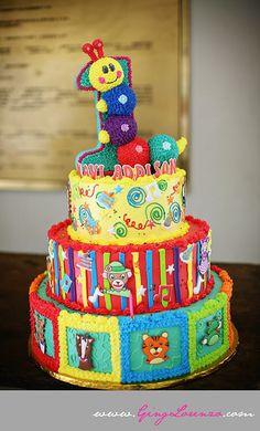 Baby Einstein Theme Birthday Cake    Absolutely Adorable!