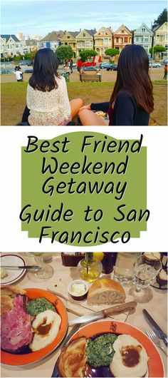 Best Friend Weekend Getaway Guide to San Francisco, California! From where to eat and how to see all the best sights in two days! Usa Travel Guide, Travel Usa, Travel Guides, Travel Tips, North America Destinations, Travel Destinations, Quick Weekend Getaways, East Coast Usa, San Francisco Travel