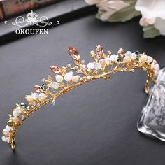 Gorgeous Gold Crowns and Headbands Rhinestone Beading Casamento 2018 Hair Accessories Jewelry Bridal Tiaras Pageant Party Gowns