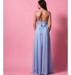 Ρομαντικό Μάξι Φόρεμα από Δαντέλα και Ζορζέτα - Γαλάζιο