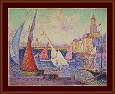 Port St Tropez Cross Stitch Pattern