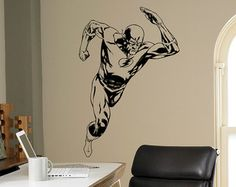 The Flash Wall Decal Superhero Symbol Icon By CustomVinylDecorShop - Superhero wall decals for kids roomssuperhero wall decal etsy