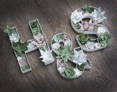 Felt Flower Letters  Wedding Decor or Home by SugarSnapBoutique