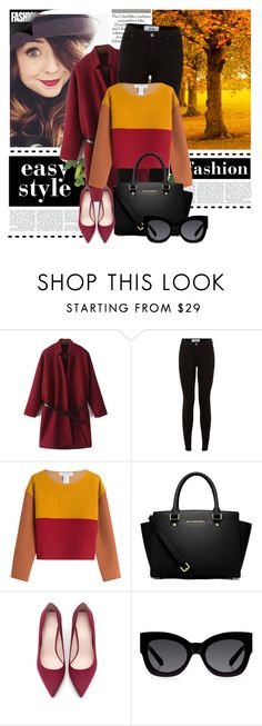 """Get a look 2"" by lovepeacehopefaith ❤ liked on Polyvore featuring New Look, Philosophy di Lorenzo Serafini, MICHAEL Michael Kors, Zara and Karen Walker"