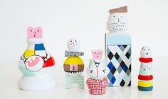 DIY Wooden Doll Family