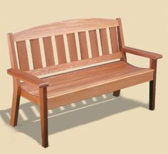 Garden Bench Woodworking Plans This attractive cedar Garden Bench will be a welcome addition to any yard, garden or porch area. It's comfortable, sturdy design will last for years. #diy #woodcraftpatterns