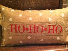 Christmas Burlap Pillows FOR SALE at www.etsy.com/shop/TheUrbanBungalow