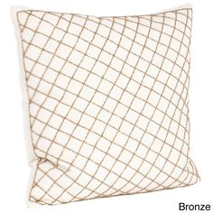 Diamond Design Beaded Down Filled Throw Pillow | Overstock.com Shopping - Great Deals on Throw Pillows