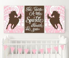 Decorating a Bedroom for Your Cowgirl Bathroom Canvas, Nursery Canvas, Nursery Prints, Cowgirl Bedroom Decor, Pink Bed Sheets, Little Cowgirl, Horse Wall Art, Baby Girl Nursery Decor, Pink Bedding