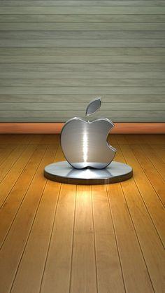 3D Apple Logo iPhone 5s wallpaper