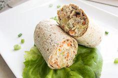 Recipe:+Pineapple+Chicken+Salad+Wraps