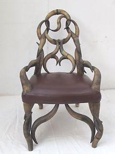 Antique Victorian Steer Horn Chair