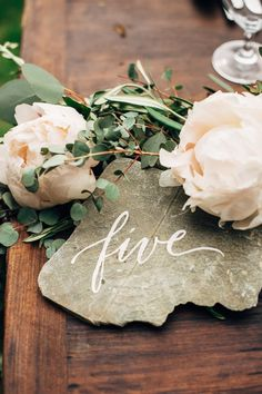 Garden Paving Stone Table Numbers | Mass Audubon Habitat & Wildlife Sanctuary Wedding