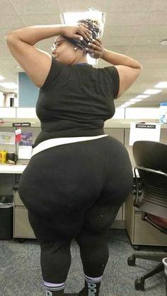 Big wide bbw ass tight black pants